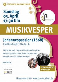 "Online Musikalische Vesper - Burck ""Johannespassion"""